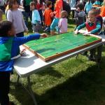 Festival des Mouillos ( jeux en bois pendant la pause du midi)
