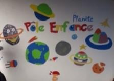 Pole Enfance fresque